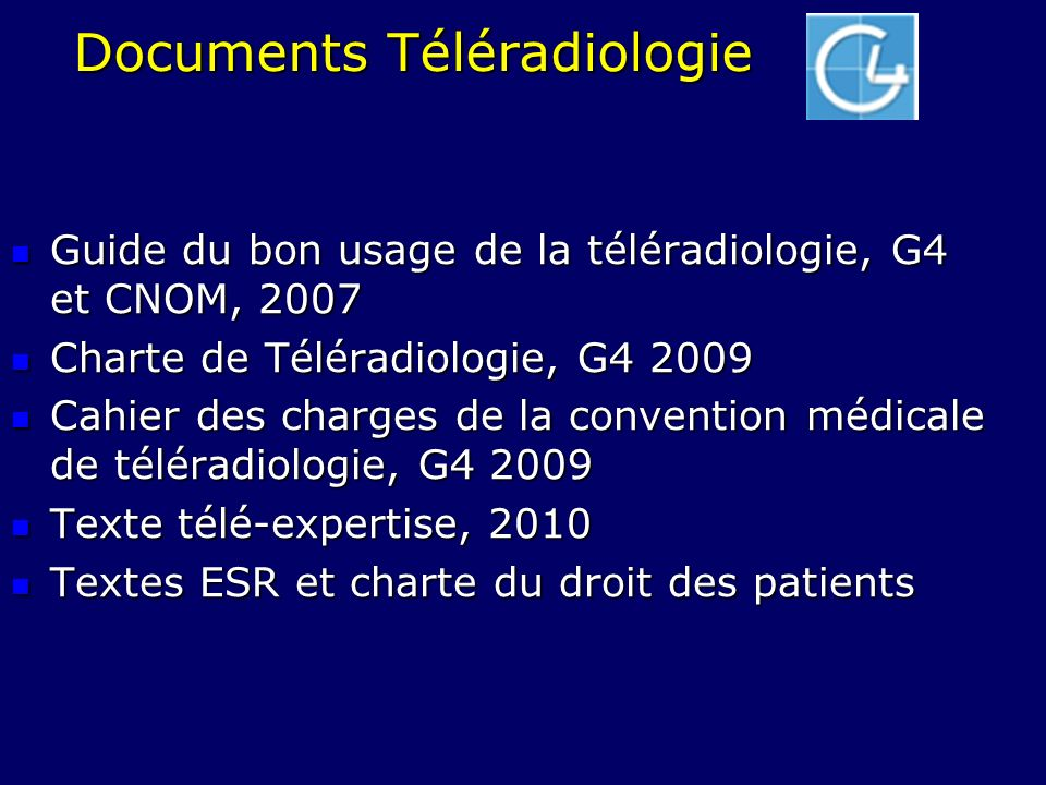 Documents Téléradiologie