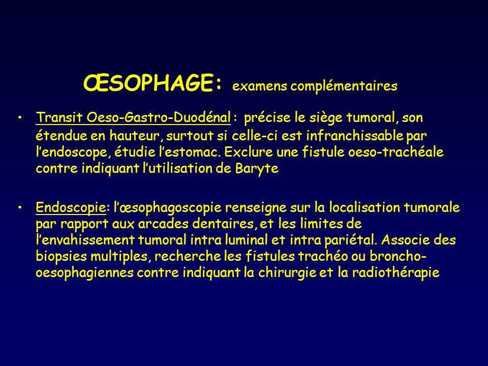 ŒSOPHAGE: examens complémentaires