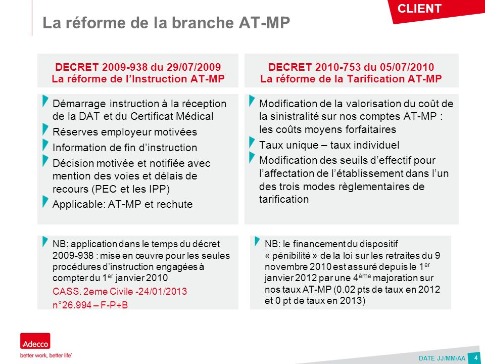 La réforme de la branche AT-MP