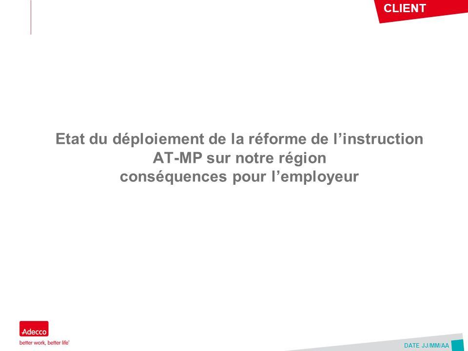 Etat du déploiement de la réforme de l'instruction AT-MP sur notre région conséquences pour l'employeur