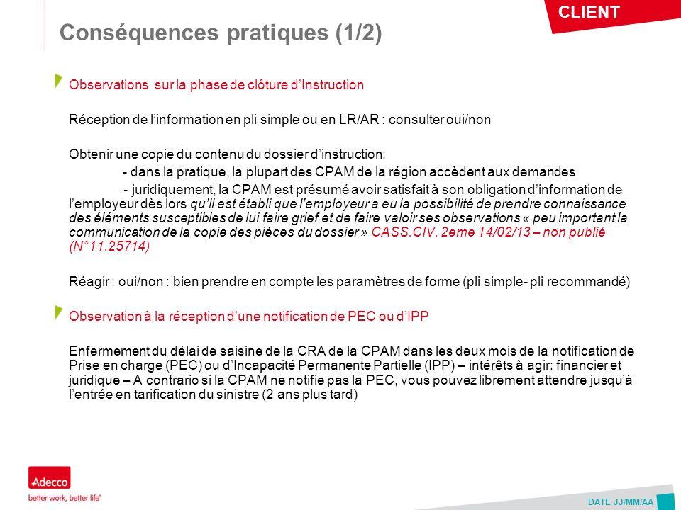 Conséquences pratiques (1/2)
