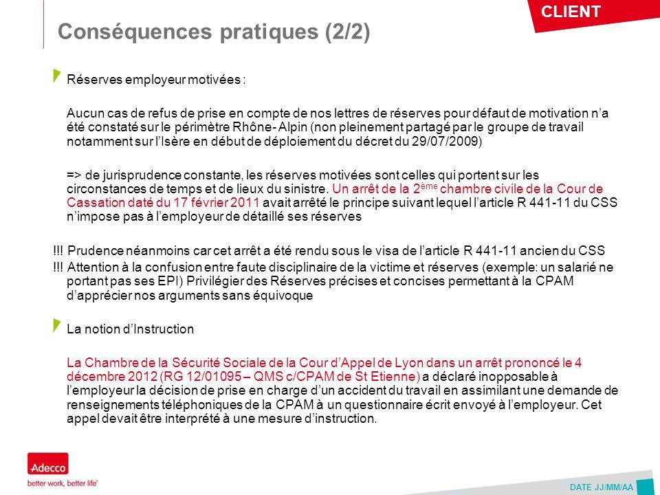 Conséquences pratiques (2/2)