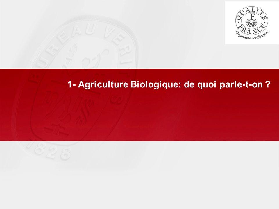 1- Agriculture Biologique: de quoi parle-t-on