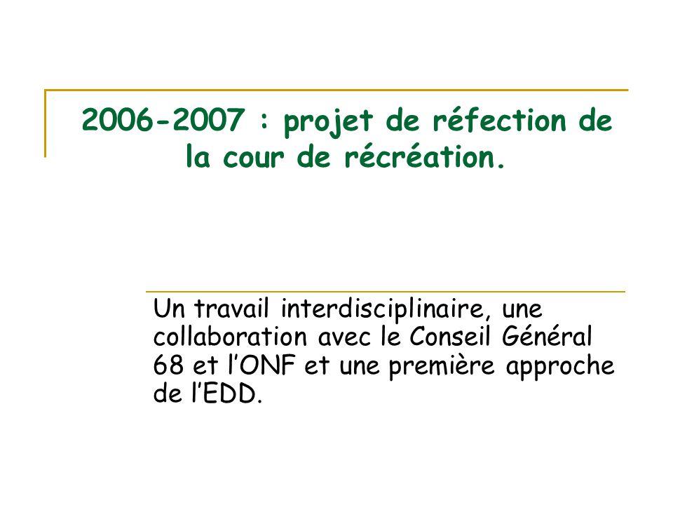 2006-2007 : projet de réfection de la cour de récréation.