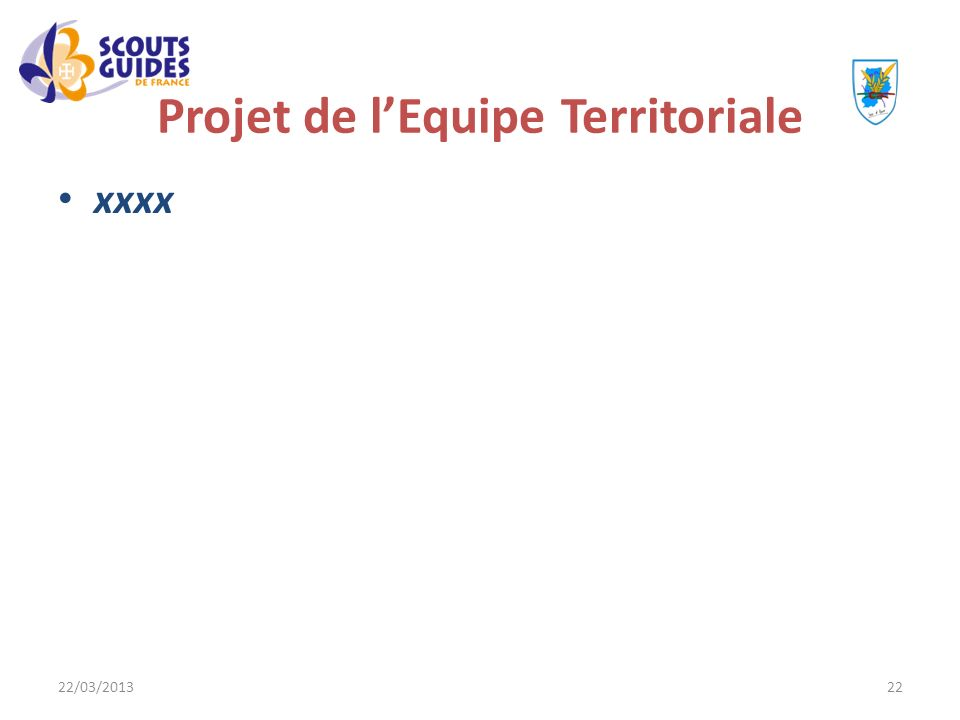 Projet de l'Equipe Territoriale