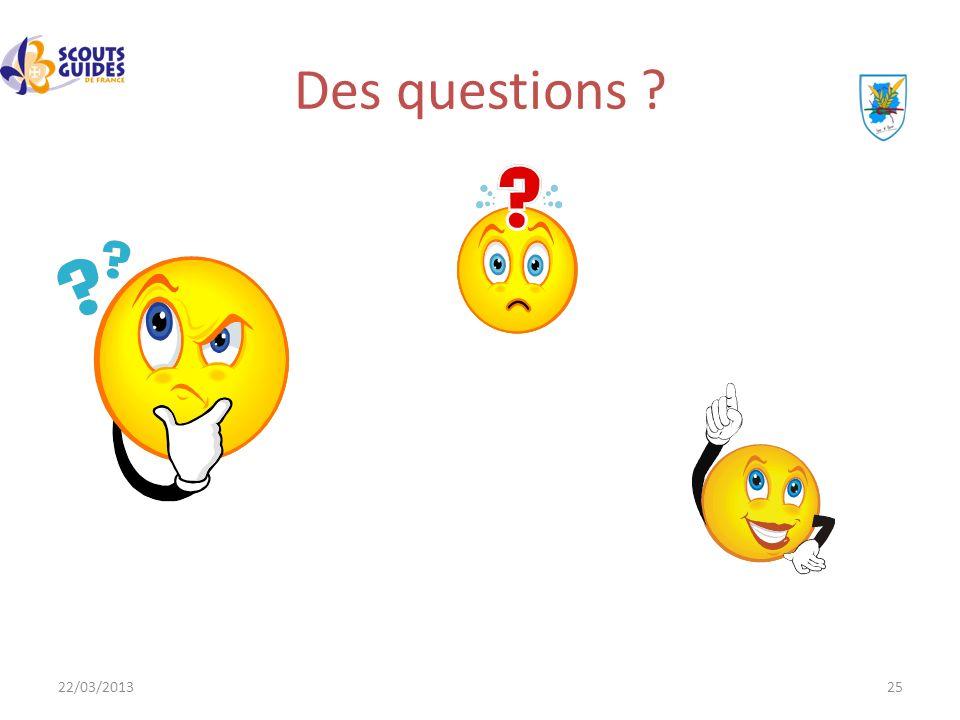 Des questions 22/03/2013