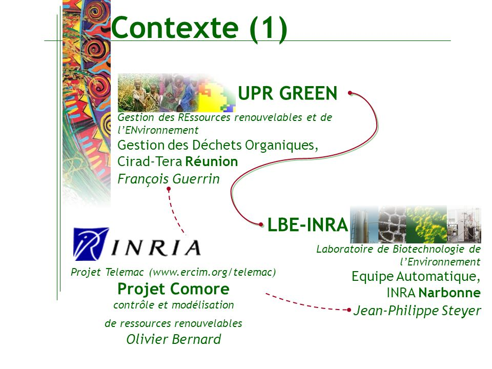 Contexte (1) UPR GREEN LBE-INRA Projet Comore