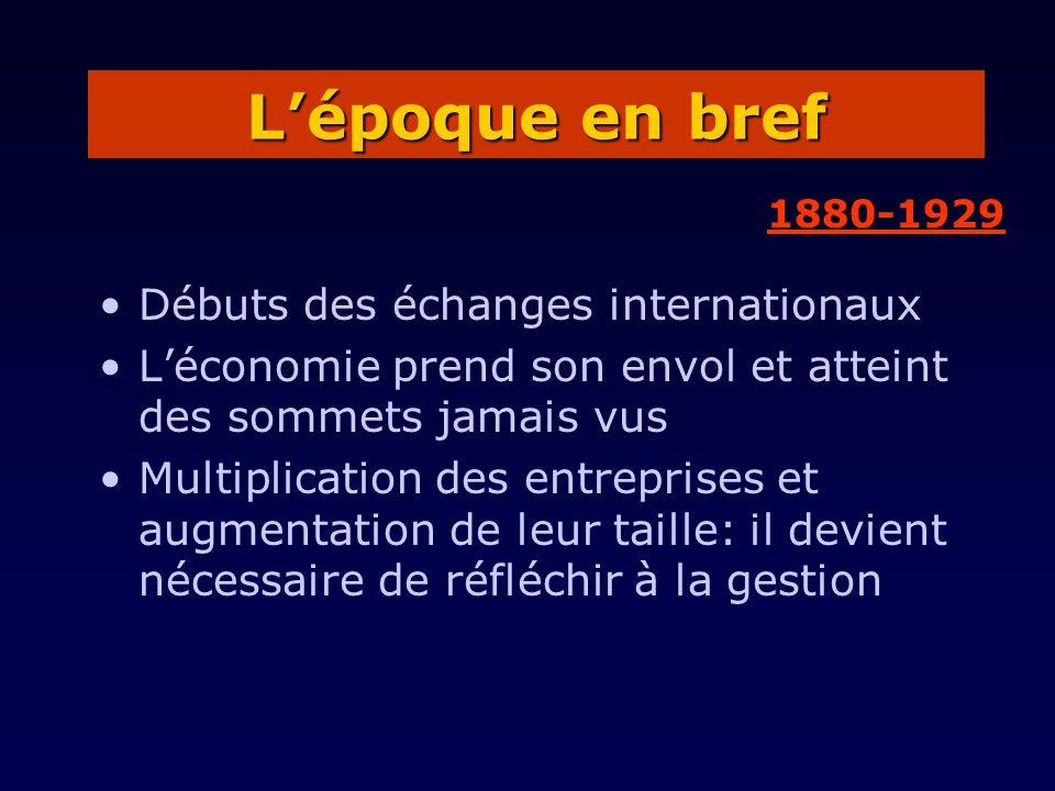 L'époque en bref Débuts des échanges internationaux