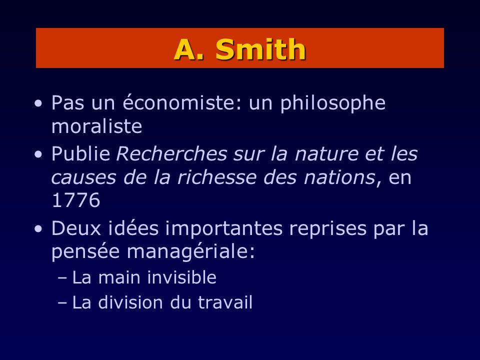A. Smith Pas un économiste: un philosophe moraliste