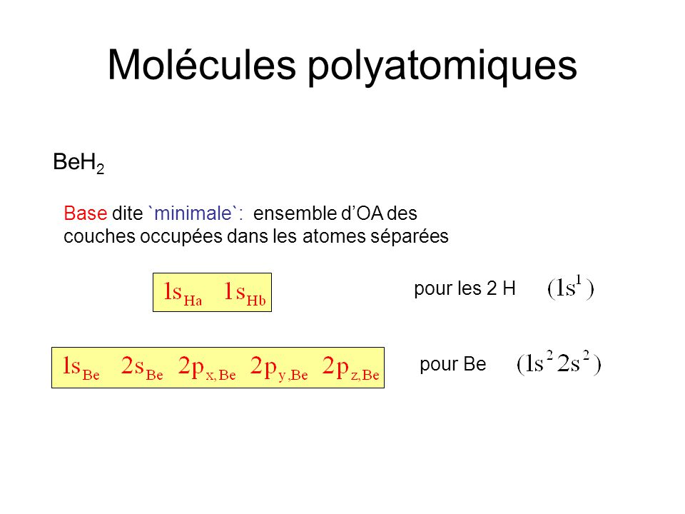 Molécules polyatomiques