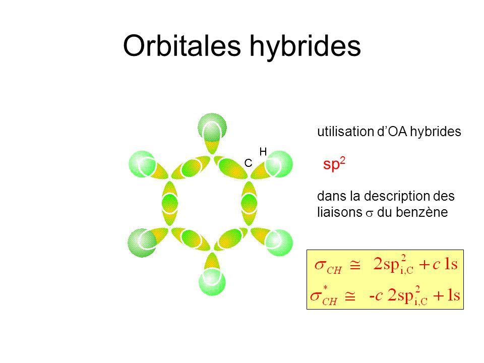 Orbitales hybrides sp2 utilisation d'OA hybrides