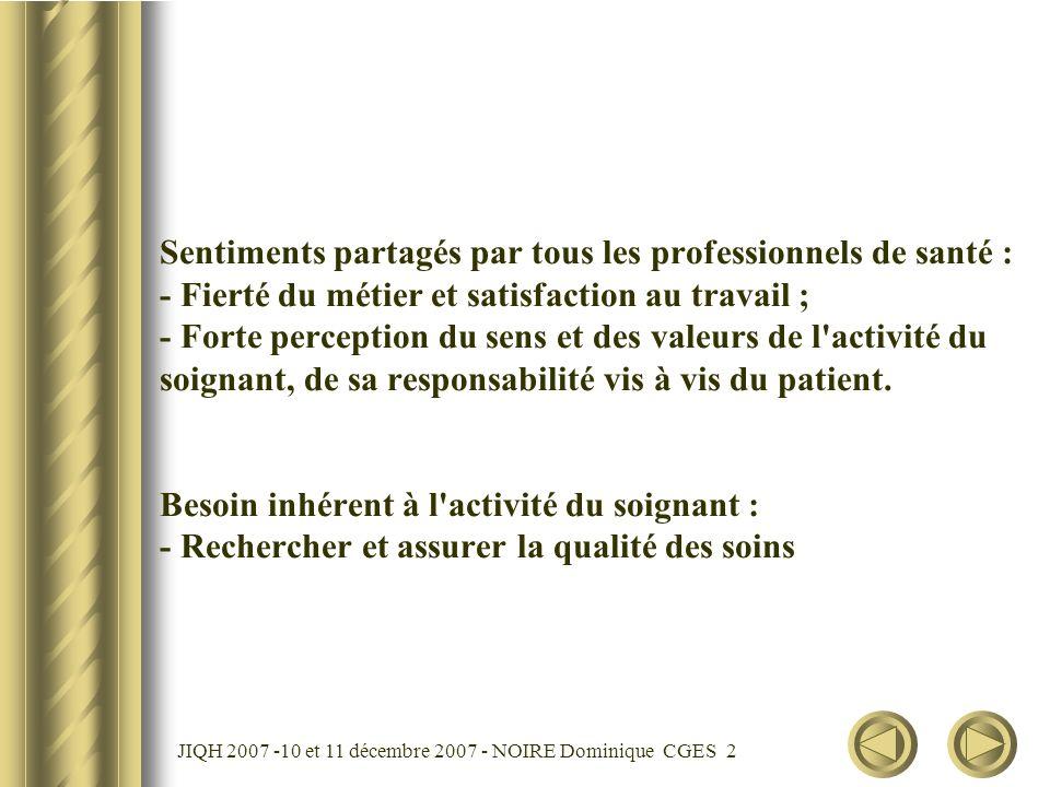 JIQH 2007 -10 et 11 décembre 2007 - NOIRE Dominique CGES