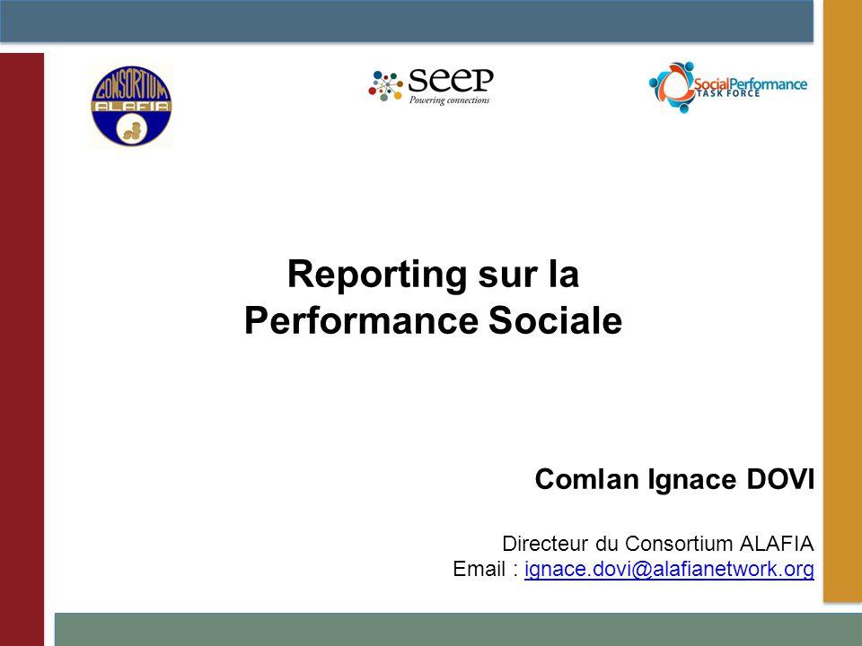 Reporting sur la Performance Sociale