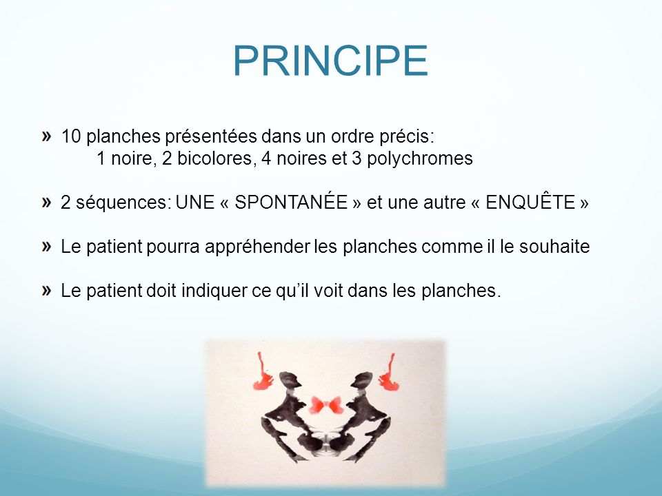 PRINCIPE 10 planches présentées dans un ordre précis: