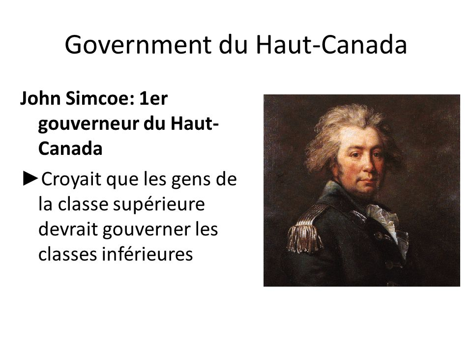 Government du Haut-Canada