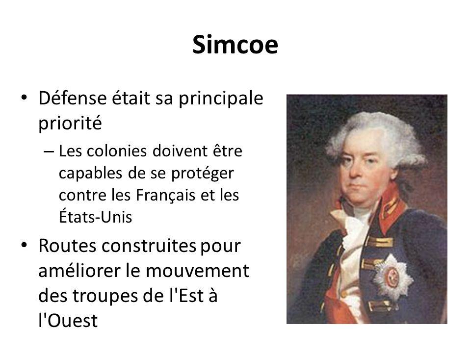 Simcoe Défense était sa principale priorité