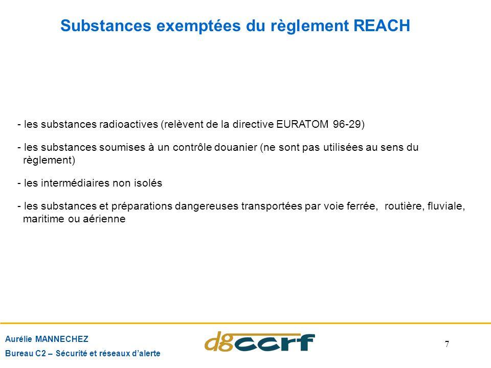 Substances exemptées du règlement REACH