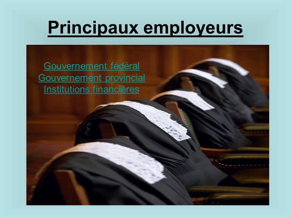 Principaux employeurs
