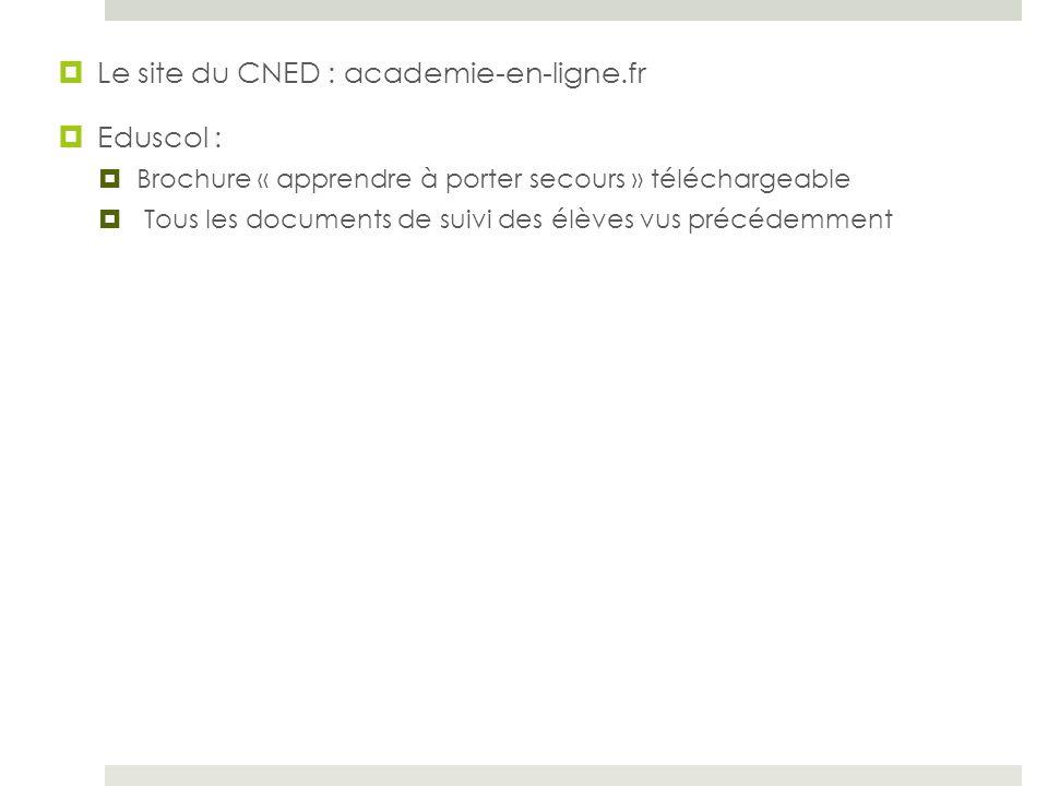 Le site du CNED : academie-en-ligne.fr Eduscol :