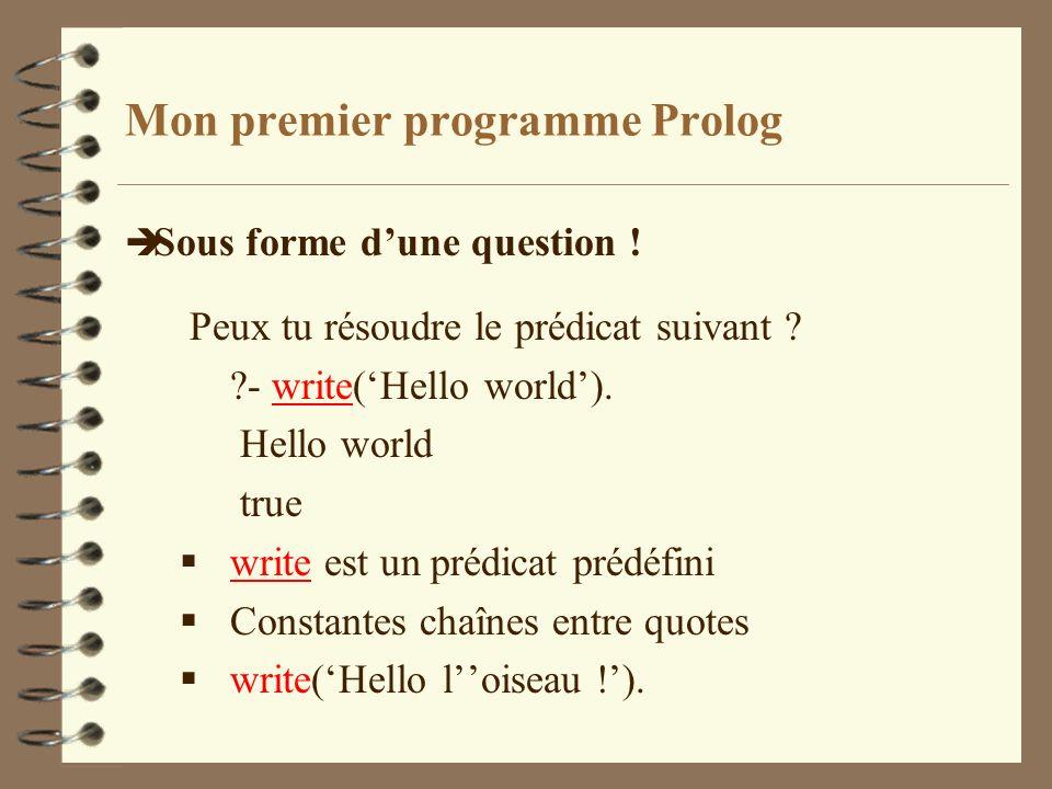 Mon premier programme Prolog