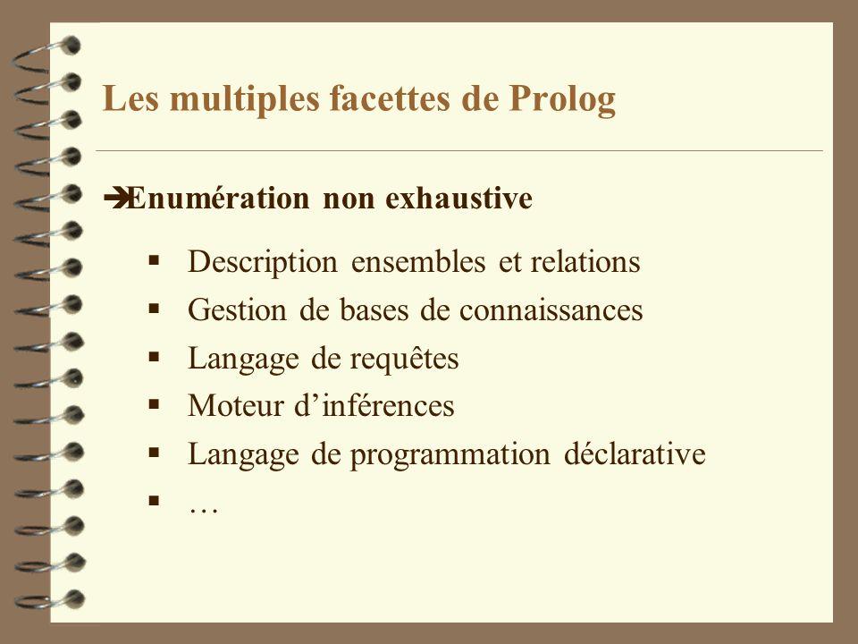 Les multiples facettes de Prolog