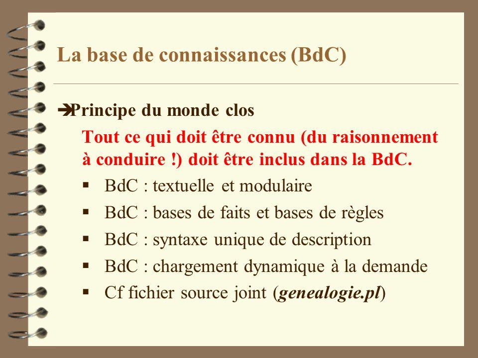 La base de connaissances (BdC)