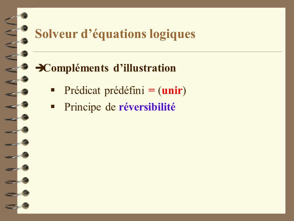 Solveur d'équations logiques