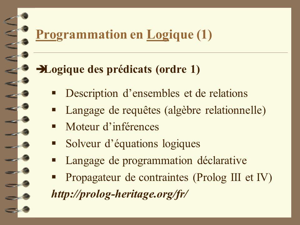 Programmation en Logique (1)