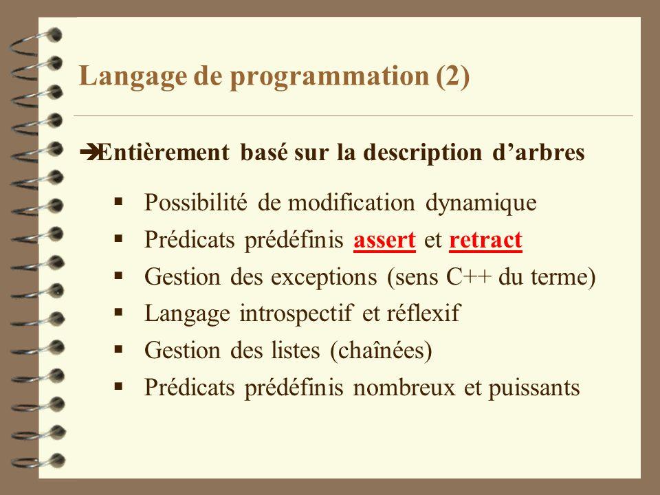 Langage de programmation (2)