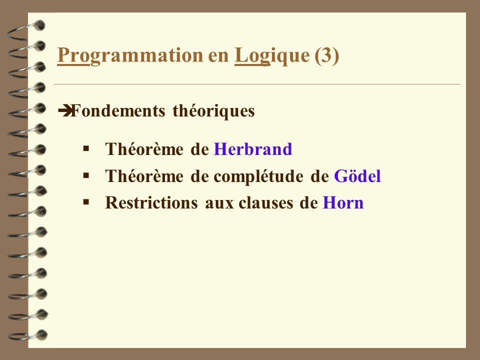 Programmation en Logique (3)