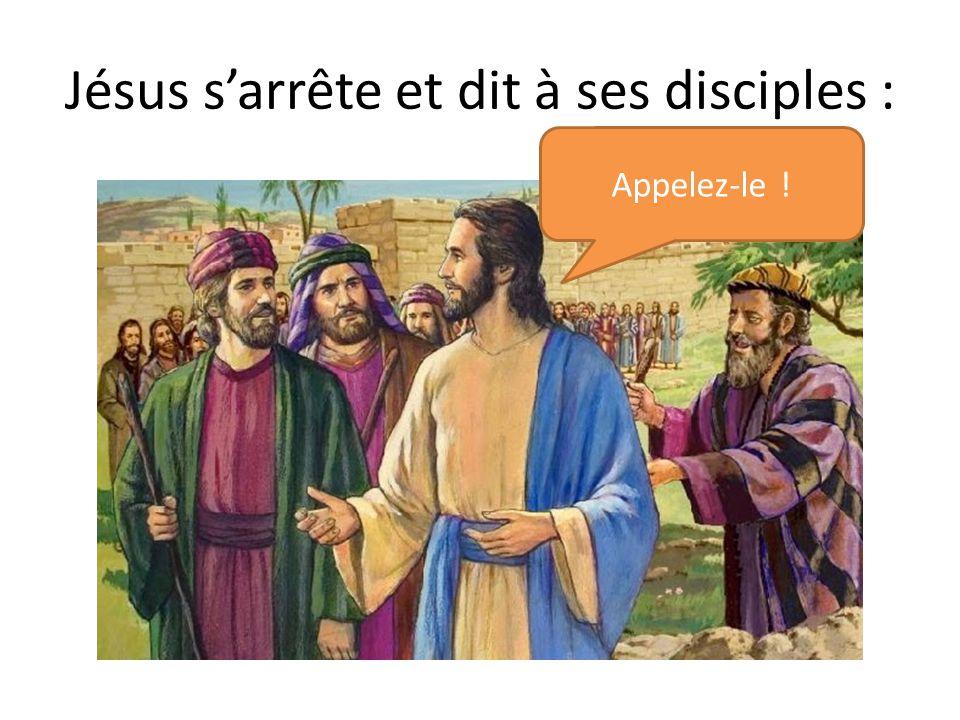 Jésus s'arrête et dit à ses disciples :