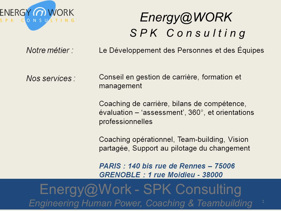 Energy@Work - SPK Consulting