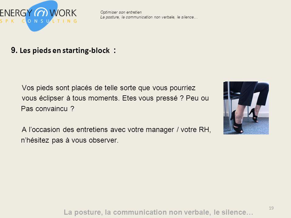 9. Les pieds en starting-block :