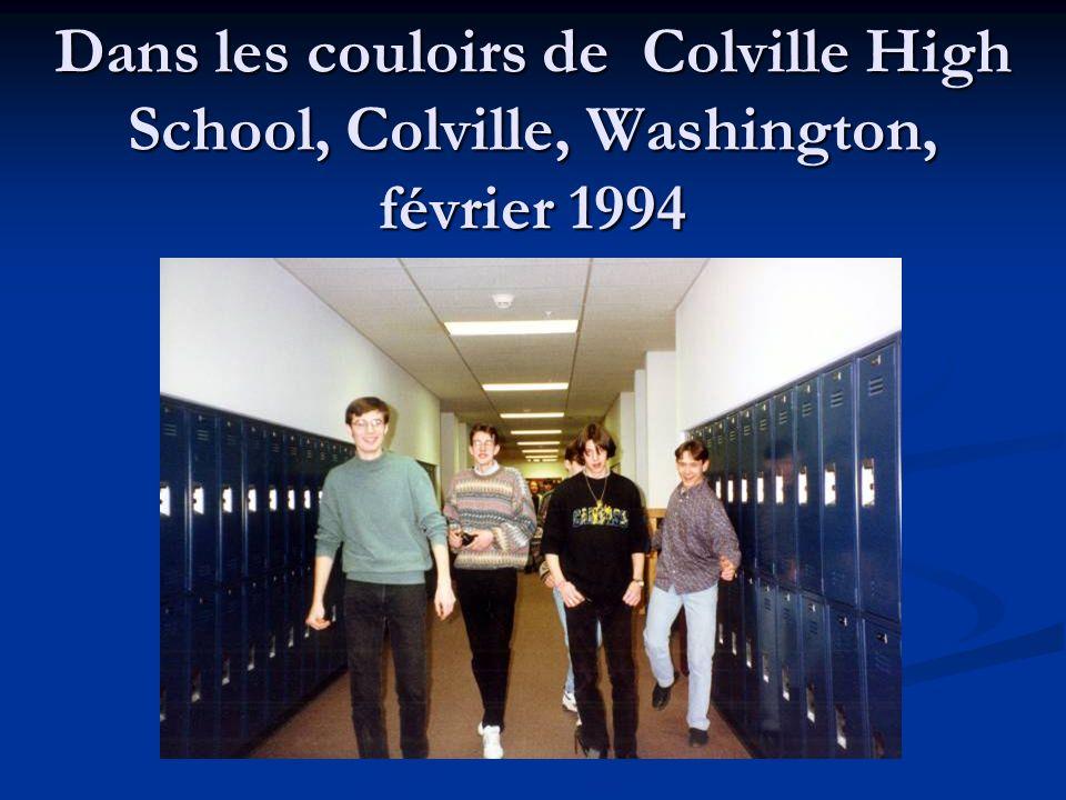 Dans les couloirs de Colville High School, Colville, Washington, février 1994
