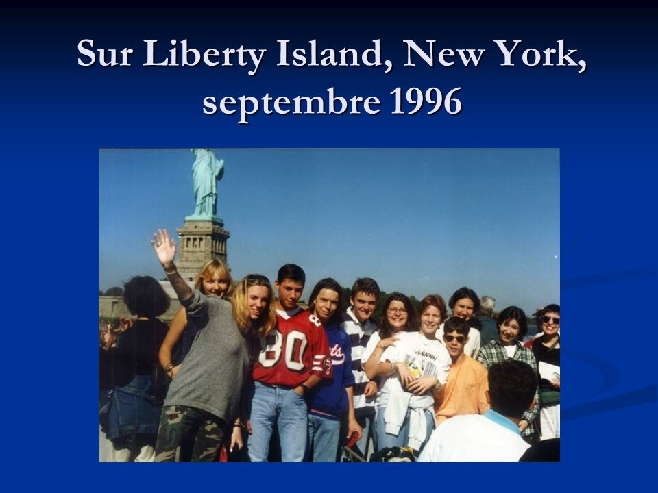 Sur Liberty Island, New York, septembre 1996