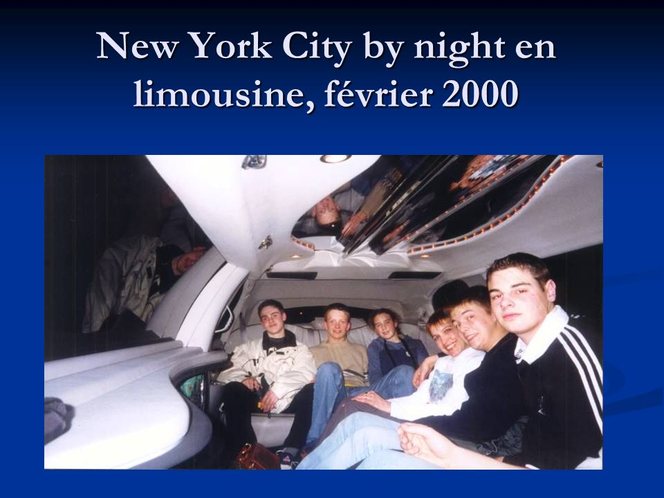 New York City by night en limousine, février 2000
