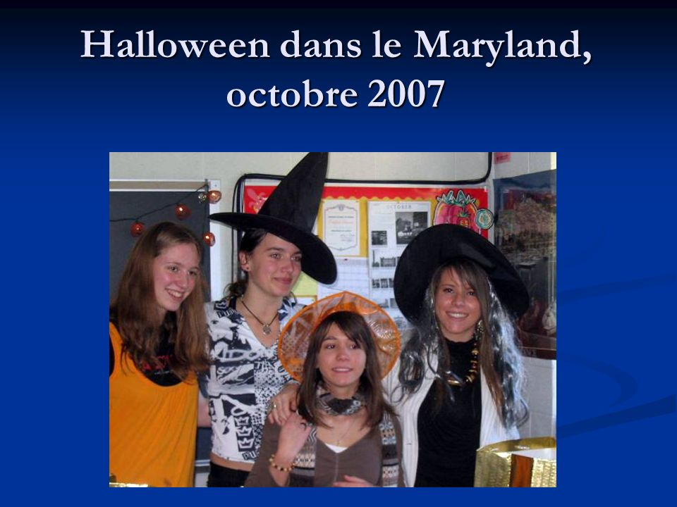 Halloween dans le Maryland, octobre 2007