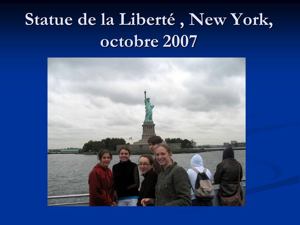 Statue de la Liberté , New York, octobre 2007