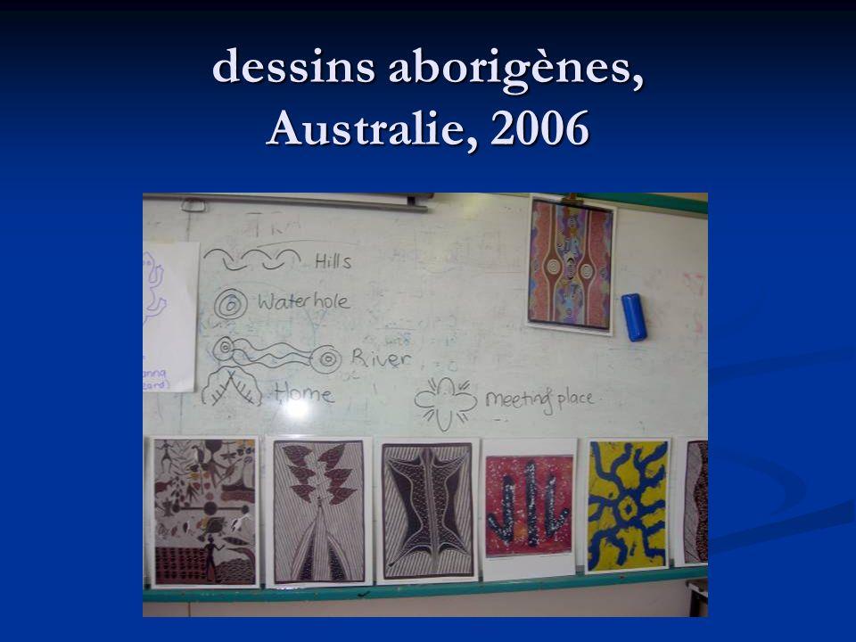 dessins aborigènes, Australie, 2006