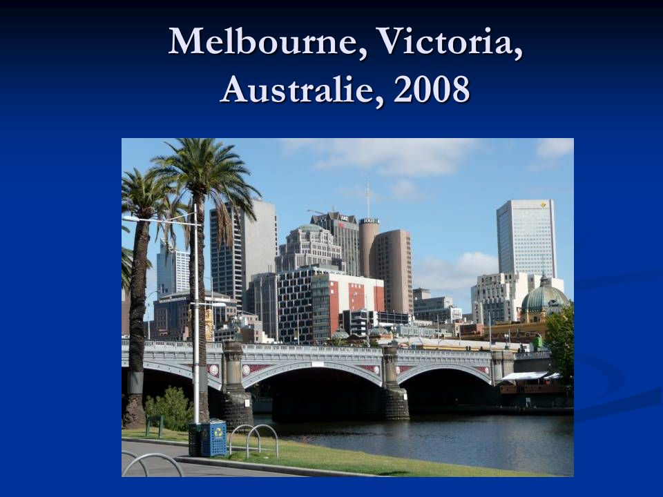 Melbourne, Victoria, Australie, 2008