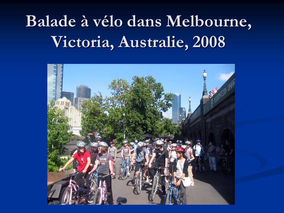 Balade à vélo dans Melbourne, Victoria, Australie, 2008