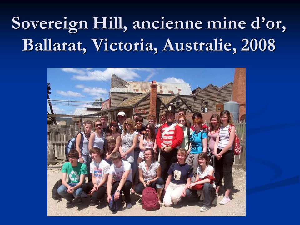 Sovereign Hill, ancienne mine d'or, Ballarat, Victoria, Australie, 2008