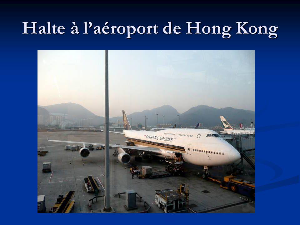 Halte à l'aéroport de Hong Kong