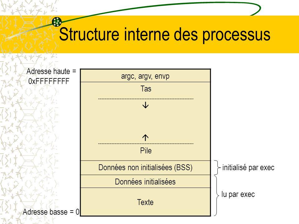 Structure interne des processus