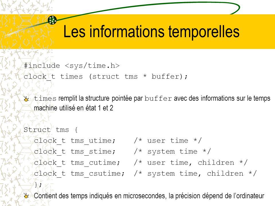 Les informations temporelles