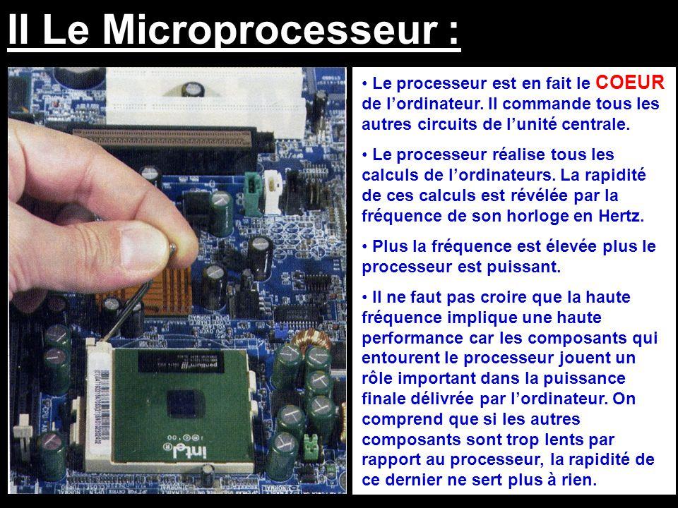 II Le Microprocesseur :