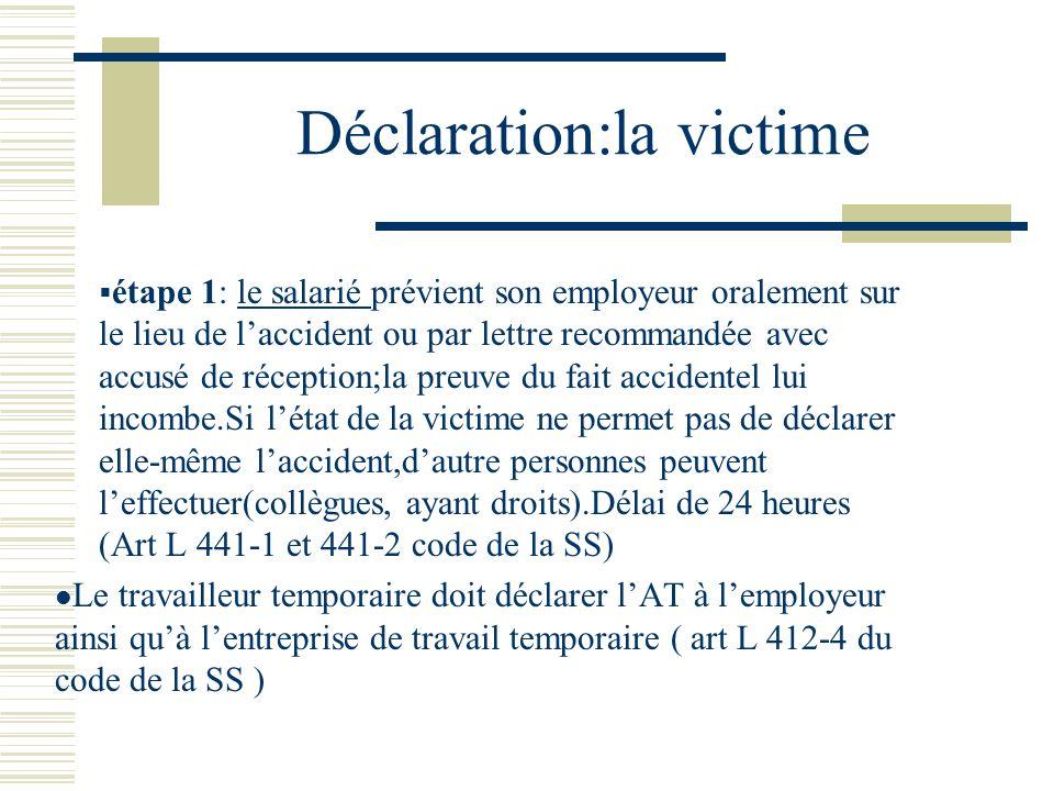 Déclaration:la victime