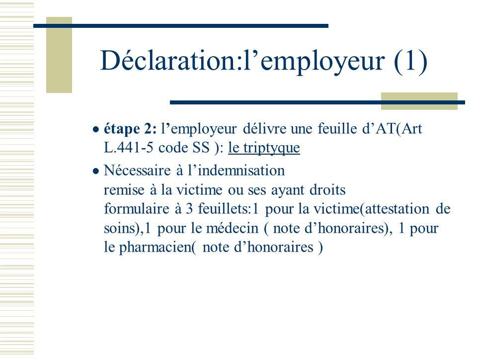 Déclaration:l'employeur (1)