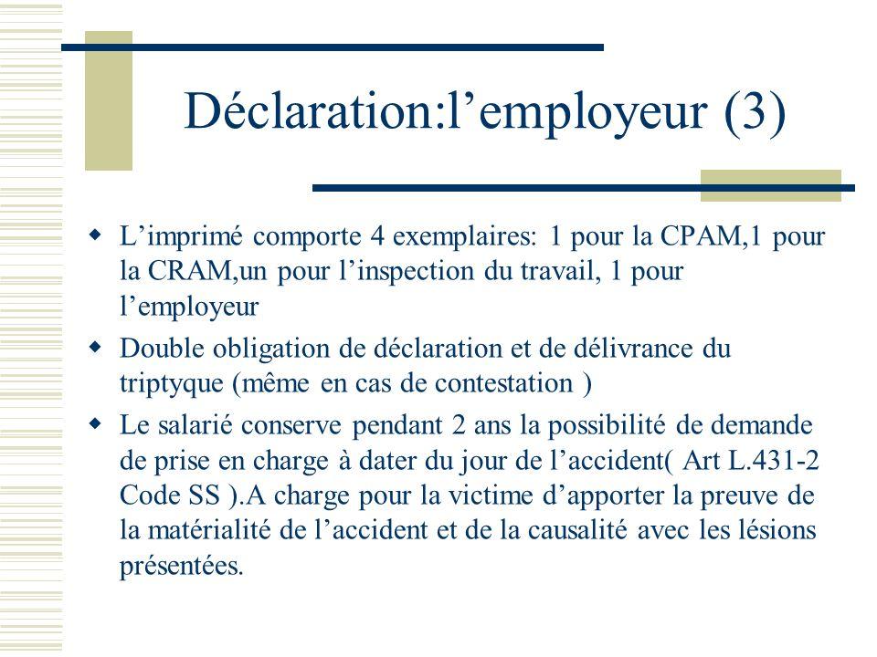 Déclaration:l'employeur (3)