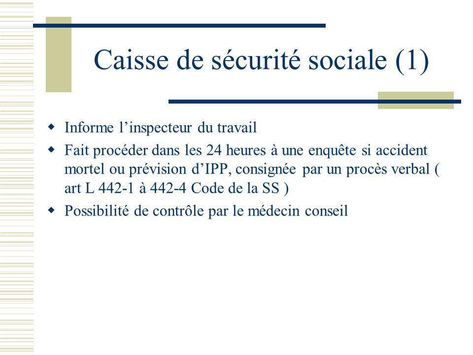 Caisse de sécurité sociale (1)
